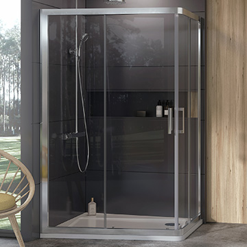 10° shower enclosures and shower doors