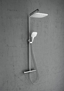 Most popular RAVAK products - A thermostatic tap and shower column in one, for a quick shower as well as for long relaxation