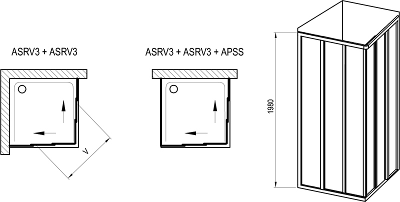 Supernova ASRV3 + ASRV3 shower enclosure