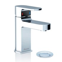 Chrome washbasin mixer tap with pop-up waste