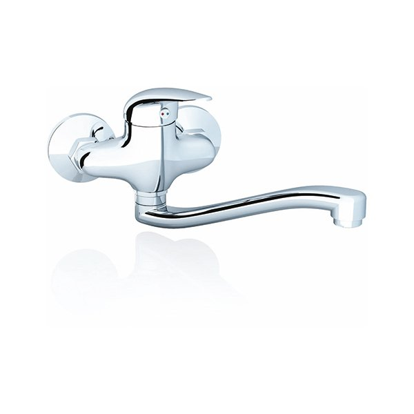 Suzan wall-mounted washbasin tap, 100 mm