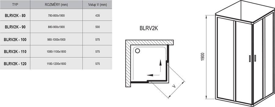 Blix BLRV2K shower enclosure