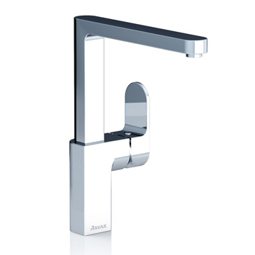 Chrome sink mixer tap
