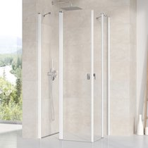 Chrome CRV2 + CRV2 shower enclosure