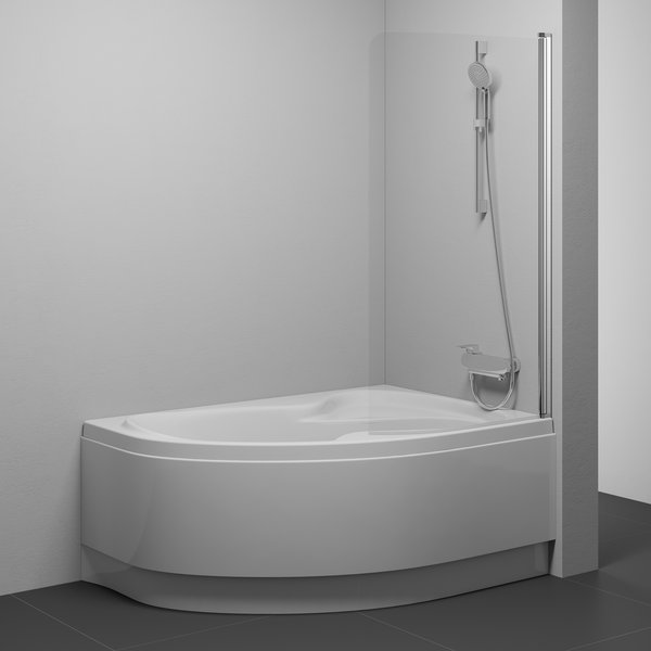 Charmant One Part Bathtub Screen