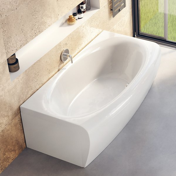 Evolution Rectangular Acrylic Bathtub