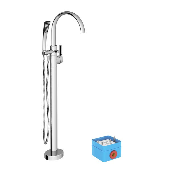 Floor-mounted bath water taps, FM 080.00 - RAVAK a.s.