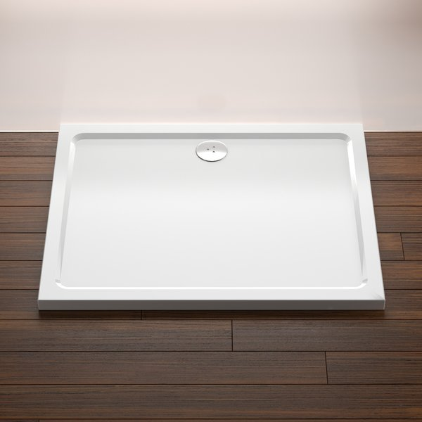 Acrylic rectangular shower tray ravak a s - Shallow shower tray ...