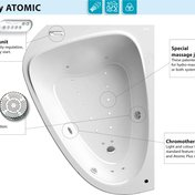 LoveStory II Atomic – bathtub with an original hydromassage system