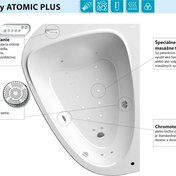 LoveStory Atomic Plus – bathtub with an original hydromassage system