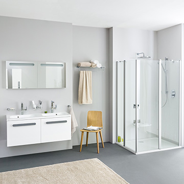 Bathrooms with shower enclosures