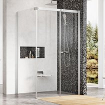 MSDPS shower door with a fixed wall