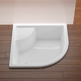 Deep shower trays and mini bathtubs