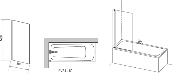 PVS1 bathtub screen