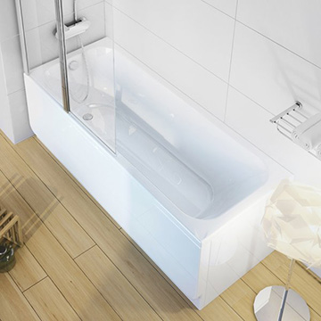 Supports, Panels and Panelkit for Rectangular Bath Chrome