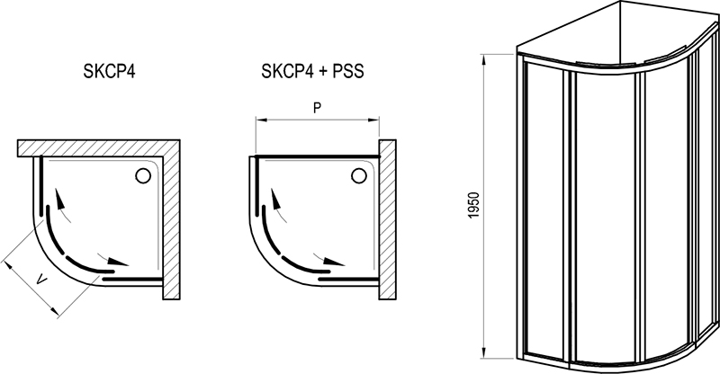 Supernova SKCP4 shower enclosure