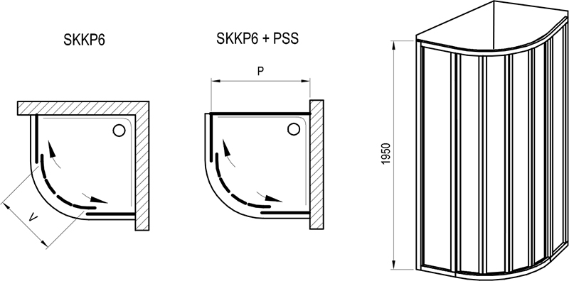 Supernova SKKP6 shower enclosure