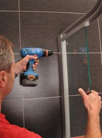 frameless shower enclosure installation