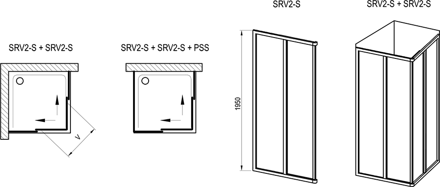 Supernova SRV2-S + SRV2-S shower enclosure