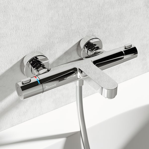 Termo 300 thermostatic wall-mounted bath tap - RAVAK a.s.