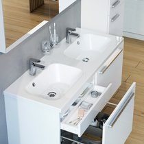 Chrome 1200 double washbasin