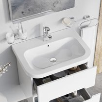 Chrome 550/650 ceramic washbasin