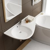 Avocado Comfort washbasin with M 560 mirror