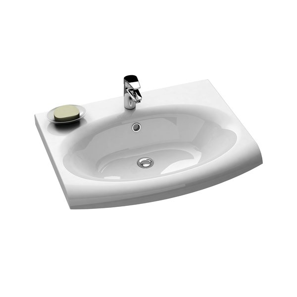 Evolution washbasin with overflow