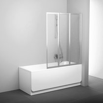VS3 bathtub screen for rectangular bathtubs