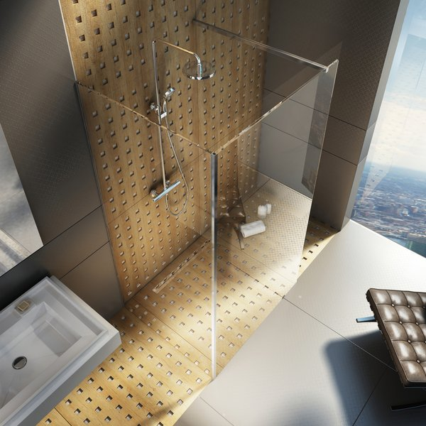 Walk-in shower enclosure, corner model - RAVAK a.s.
