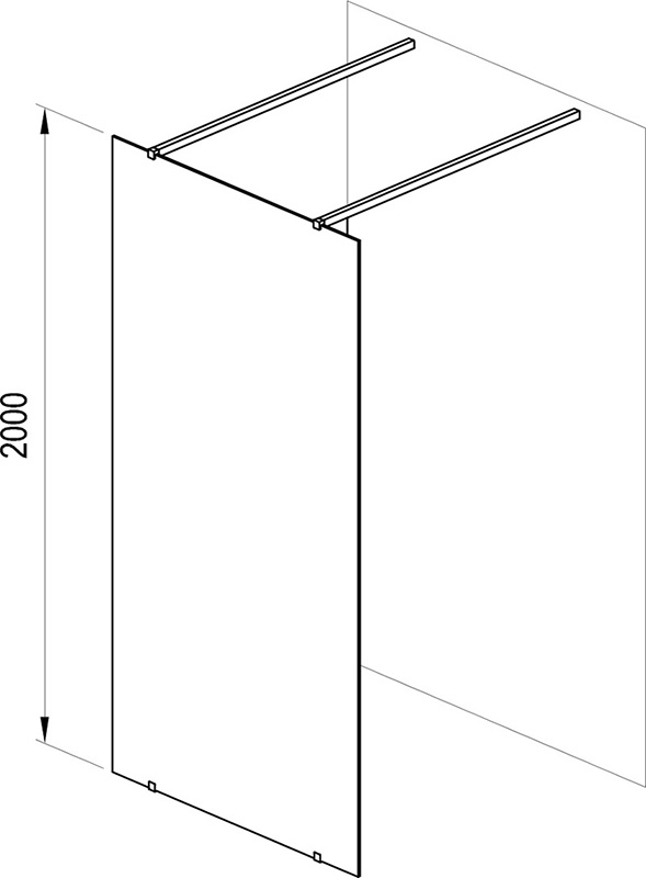 Walk-in shower enclosure, free model