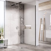 Walk-in shower enclosure, wall model